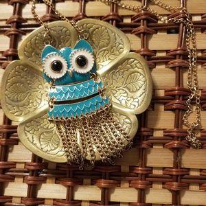 Owl Fringe Necklace